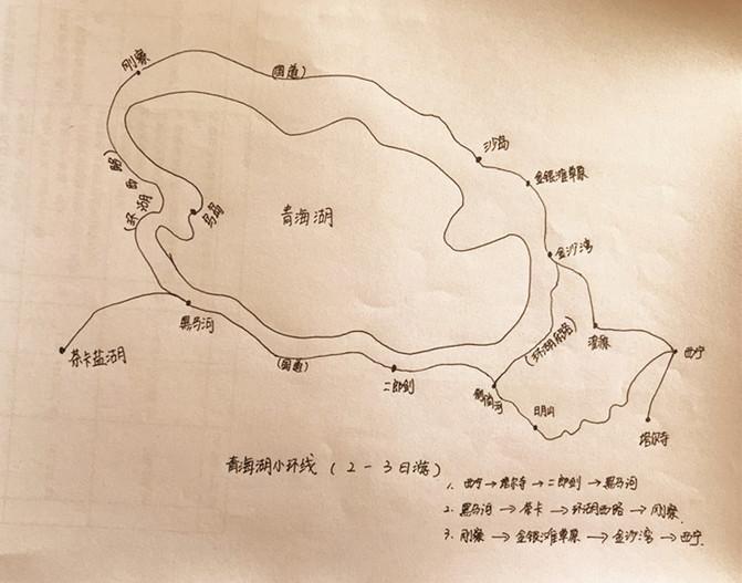 三张手绘地图,教你秒懂青海环线游: 大环线: 中环线: 小环线: 由于时