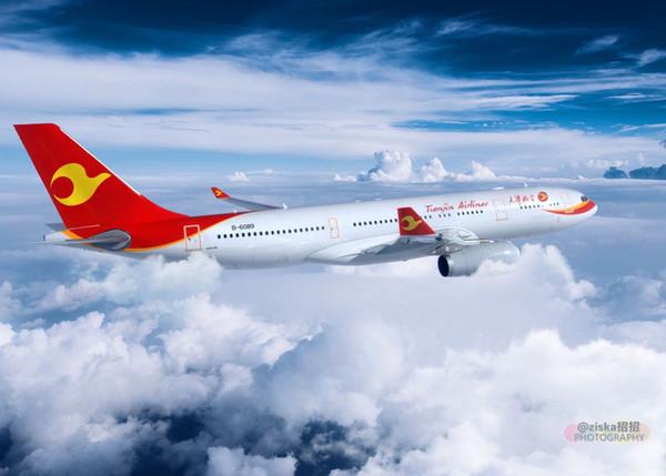 可以通过天津航空的官方微信订票,非常方便!