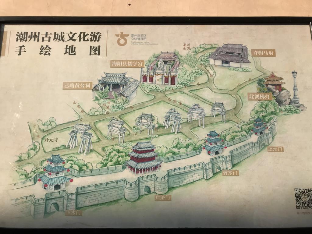 潮州古城手绘地图 第一站:牌坊街
