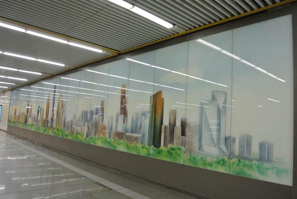 景观地铁手绘排版