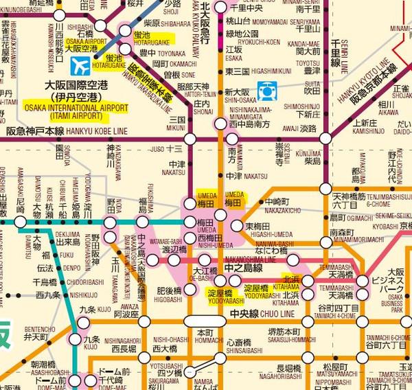 日本京都景点线路示意图图片