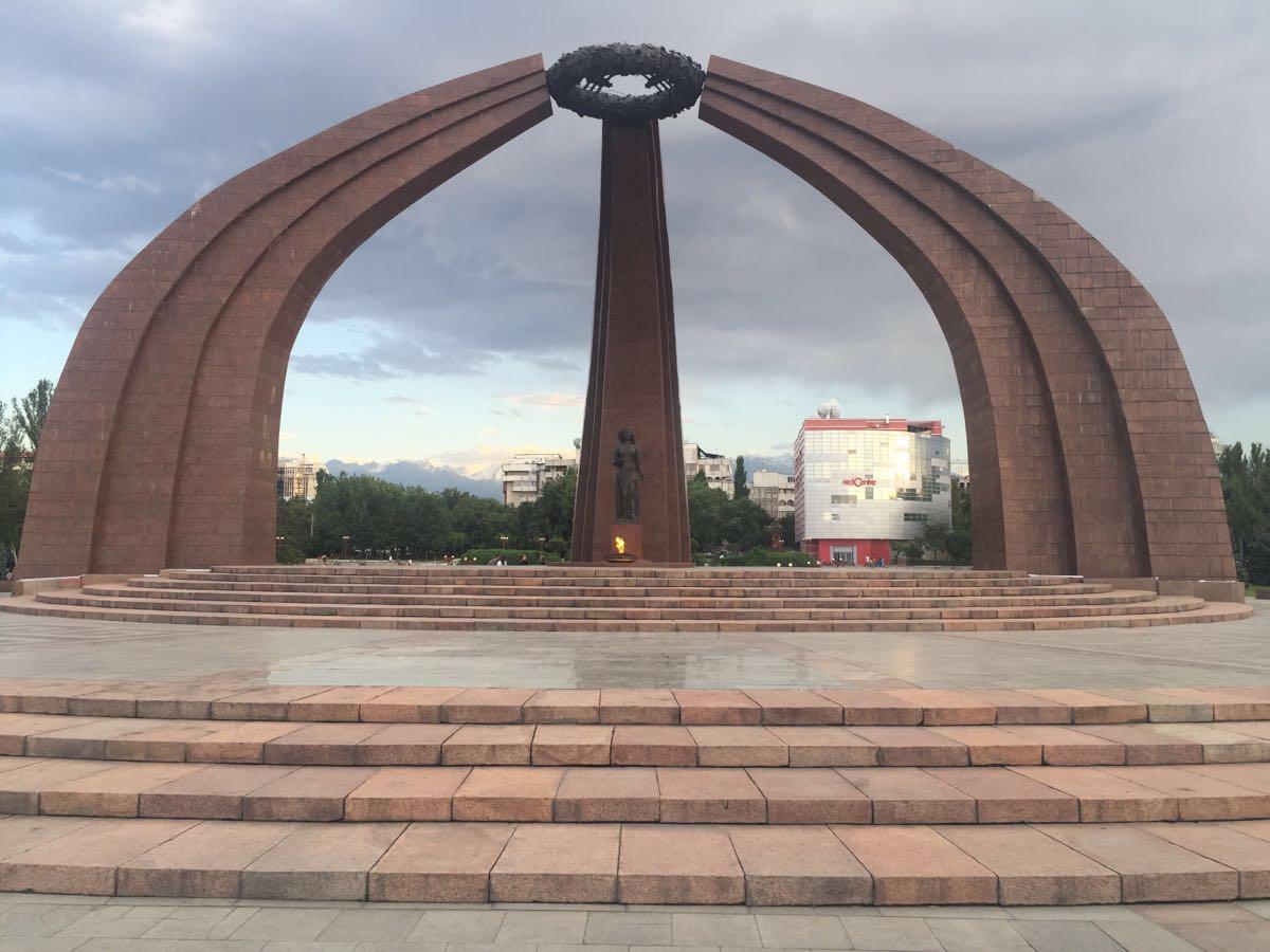 Monument to Baatyr Kaba Uulu Kozhomkul  Monument to Baatyr Kaba Uulu Kozhomkul   -0