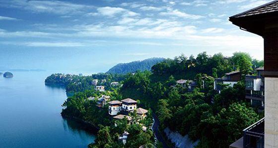 去翡翠岛上日本设计师设计的私密别墅,约会千岛湖