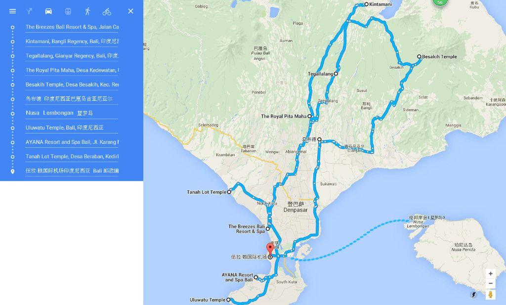 巴厘岛全景地图