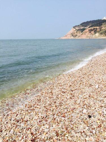 山东长岛鹅卵石沙滩