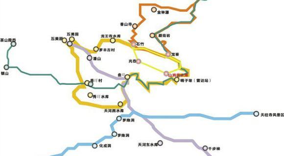 华阳至白鹤镇路线图