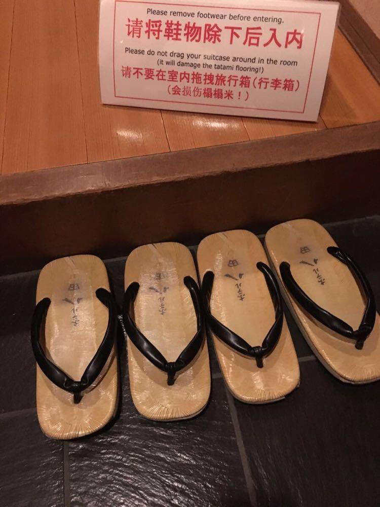 日本木屐鞋矢量图