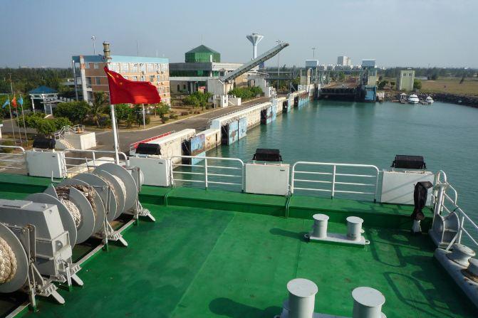 13.粤海铁路轮渡--到达南港码头