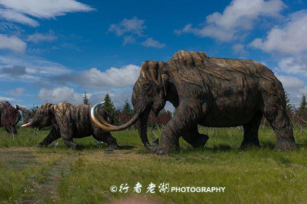 非洲动物群雕像