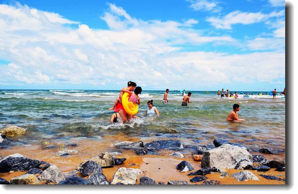 阳光,沙滩,美女,海鲜 海陵岛夏日的时光