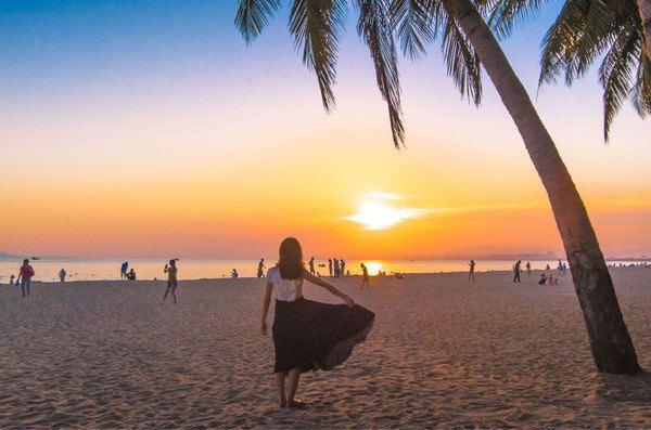黄昏海滩贝壳 壁纸