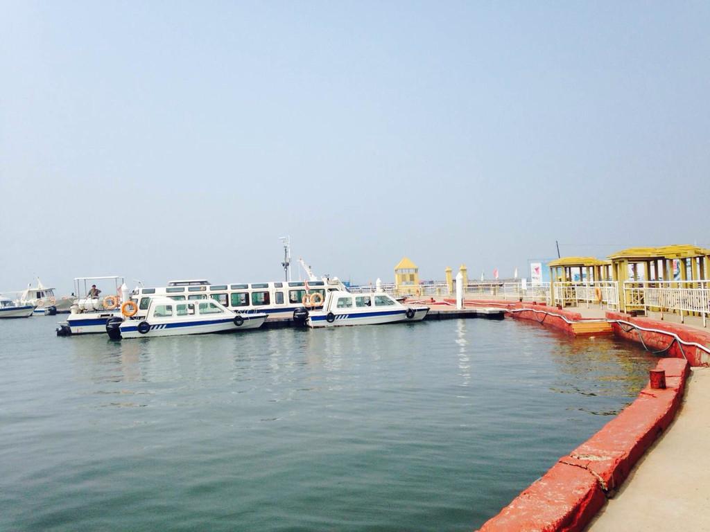 海岛的旅游业属于发展中阶段! 月坨岛 出海打鱼啦.