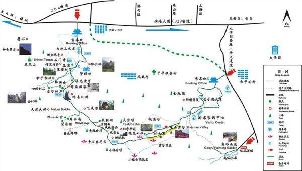 青岛野生动物园景区游览图