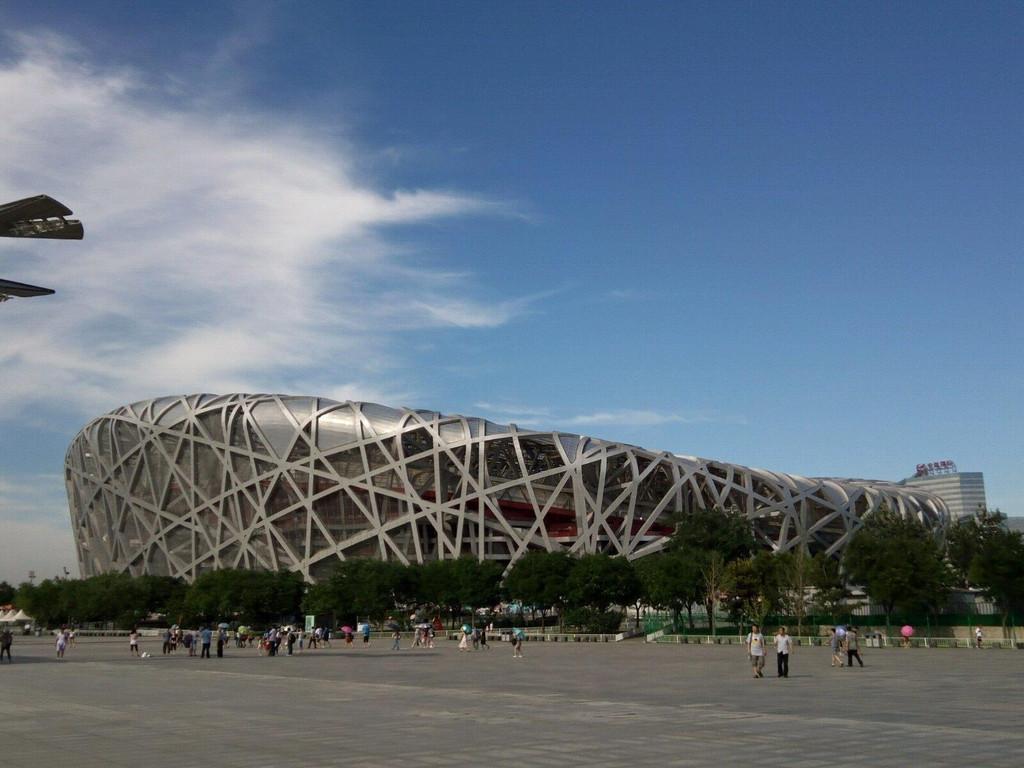 北京鸟巢简笔画步骤