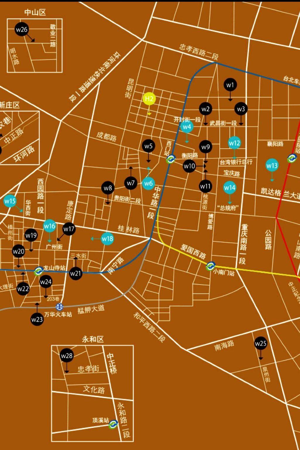 台北手绘美食地图