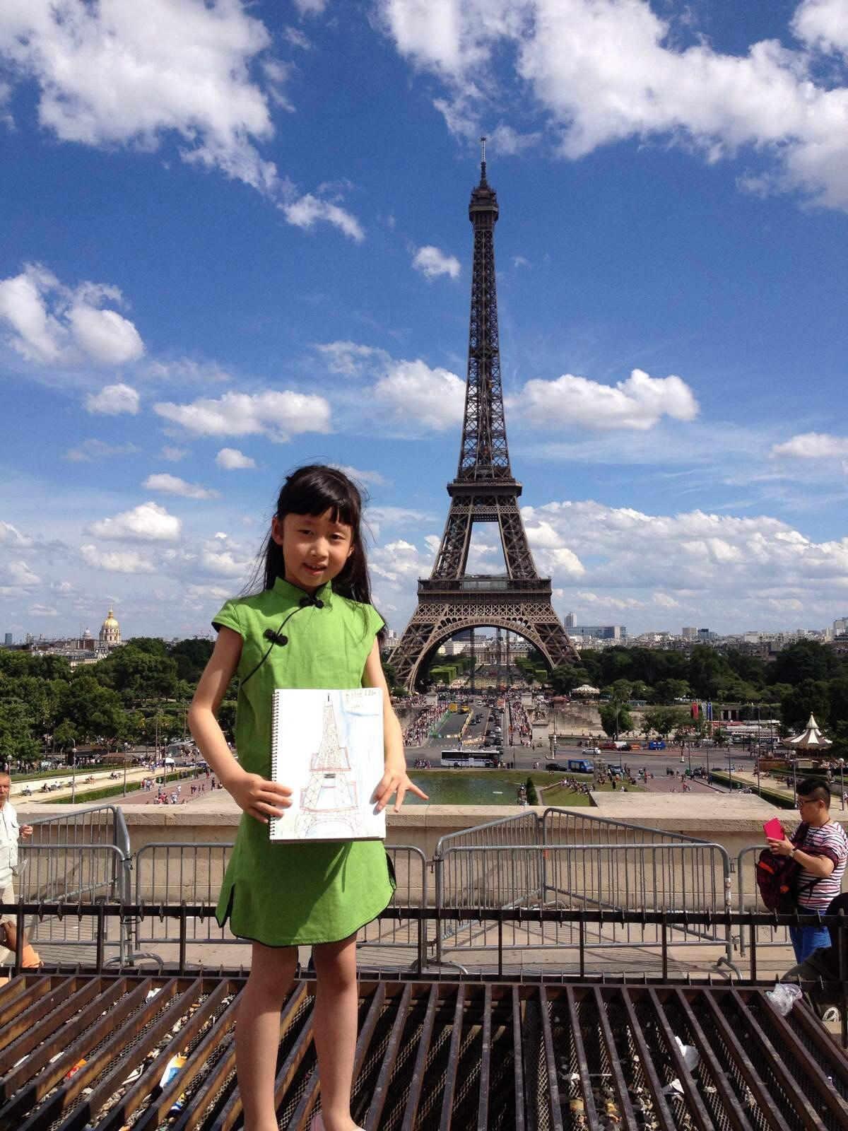 巴黎!我画埃菲尔铁塔