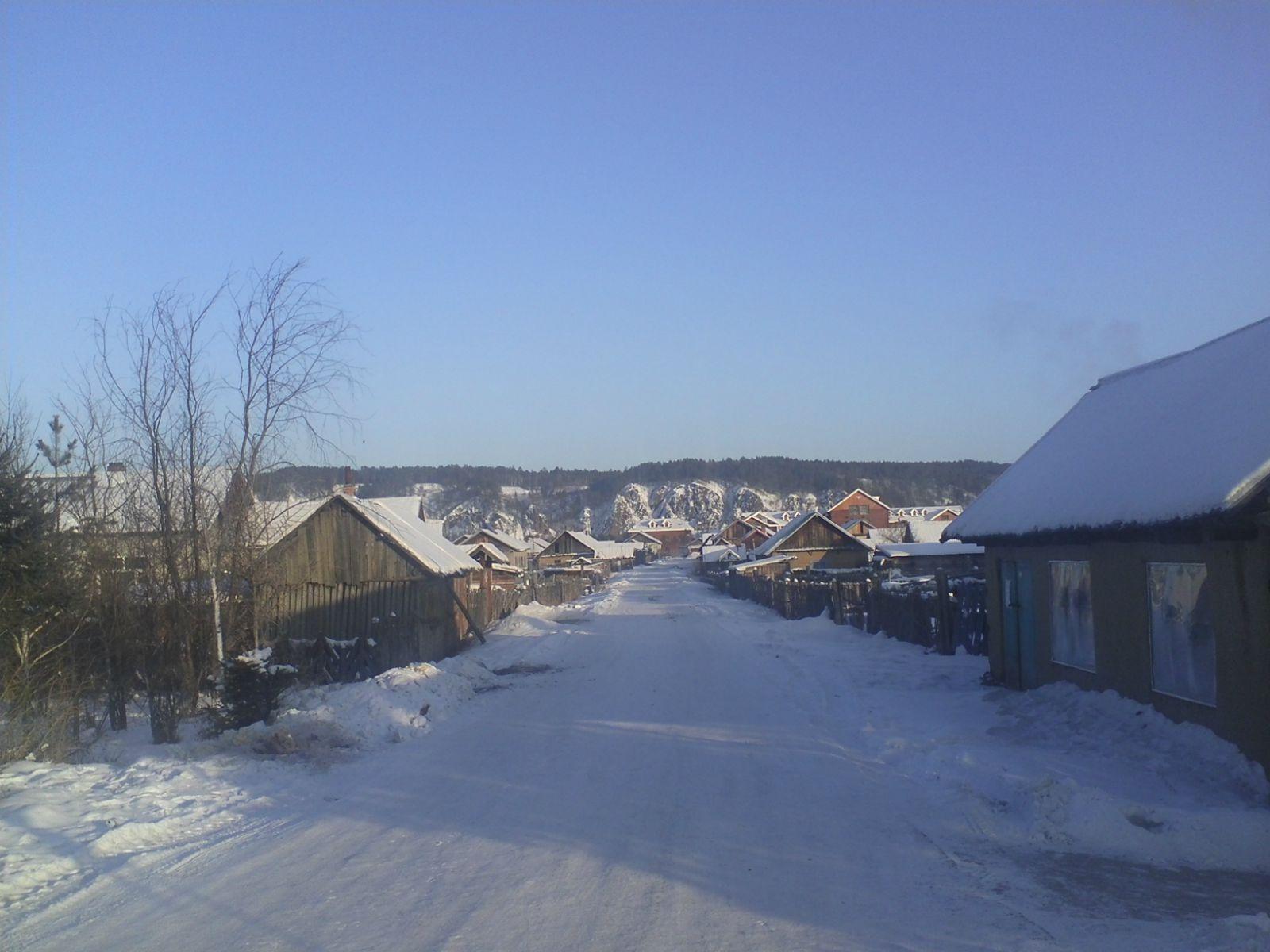 漠河大雪晚上农村房子唯美图片