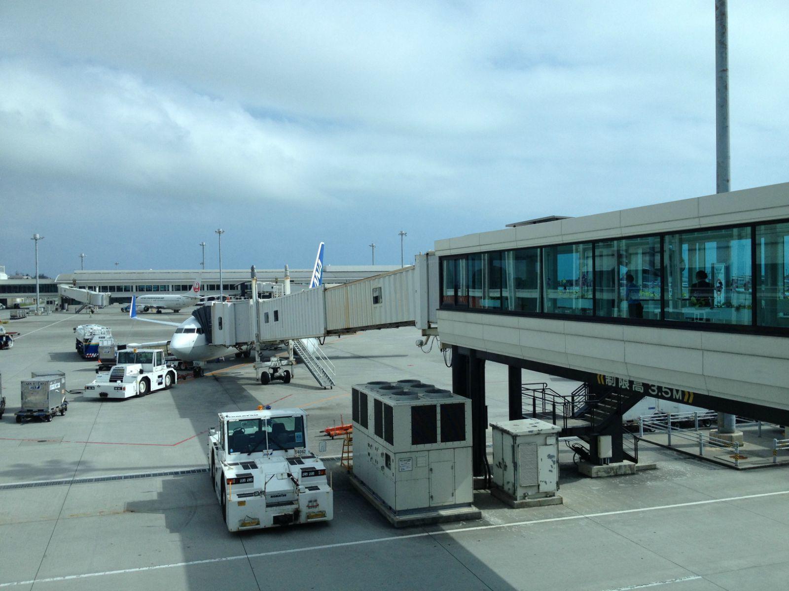 na的飞机去石垣岛了