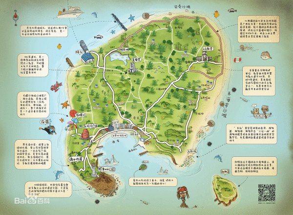 桂林q版手绘地图