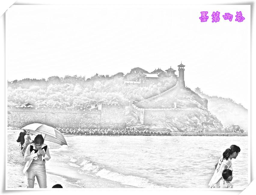 蓬莱手绘简单画