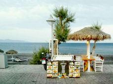 卡马利黑沙滩-圣托里尼