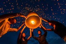 floating lamp in Yeepeng festival-泰国-doris圈圈