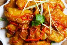 漠河美食图片-锅包肉