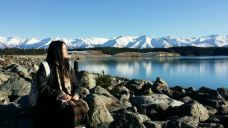 普普基湖-新西兰-一脚一个坑