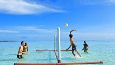 薇拉瓦鲁岛水中排球游戏