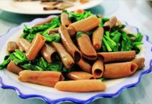 烟台美食图片-韭菜海肠