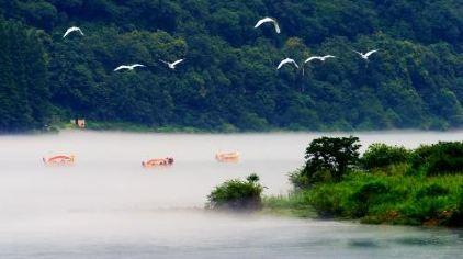 新安江漂流-置身云雾